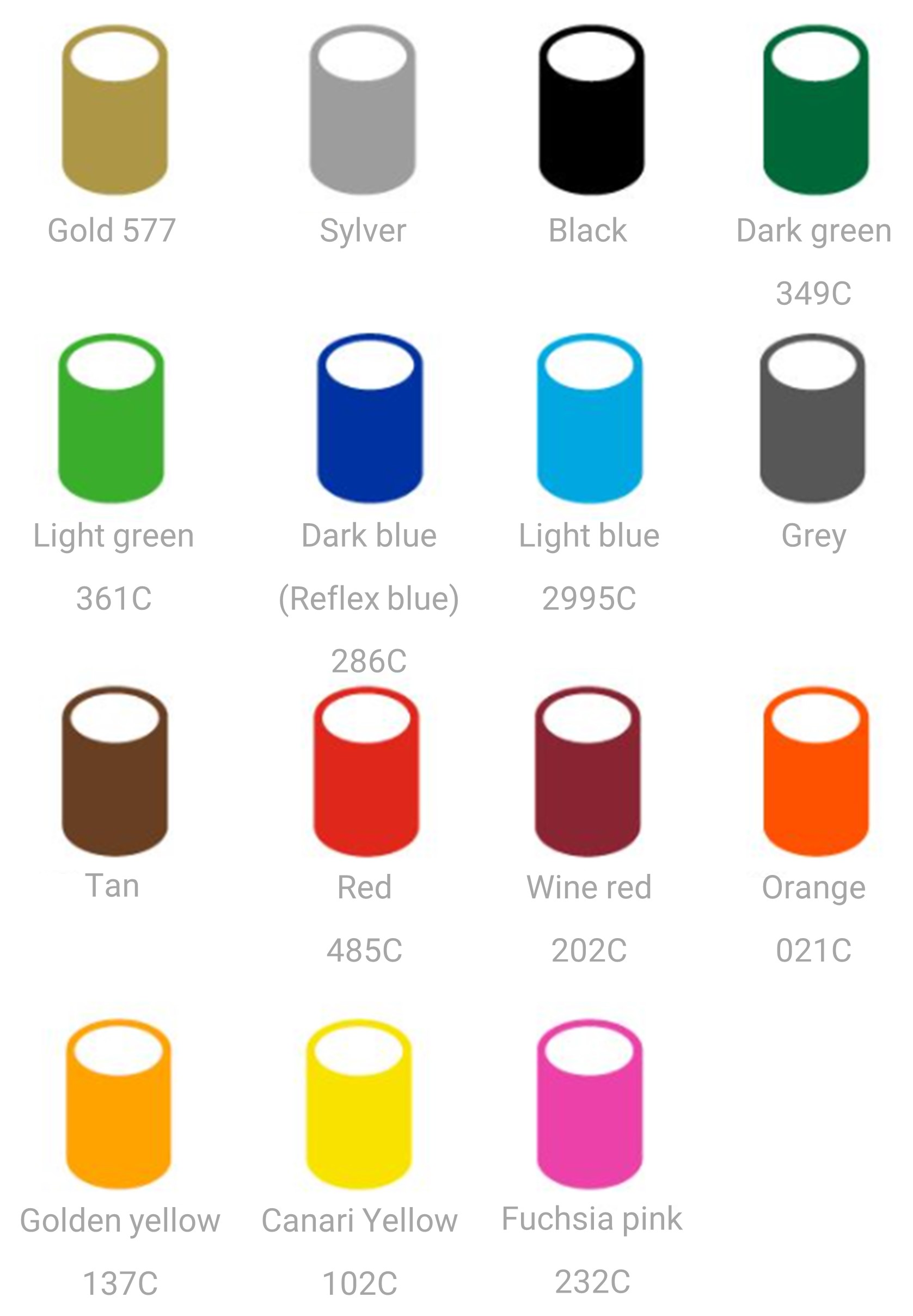 POS pole color chart