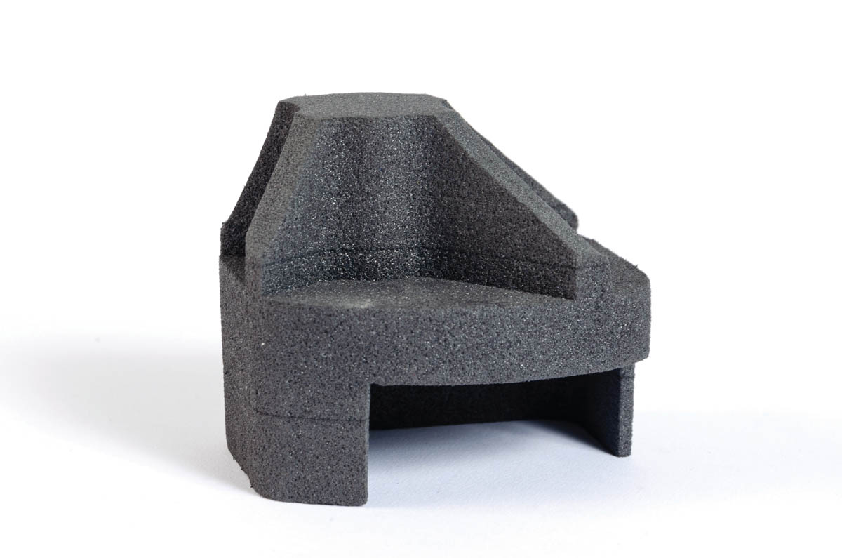 Machined cushioning foam