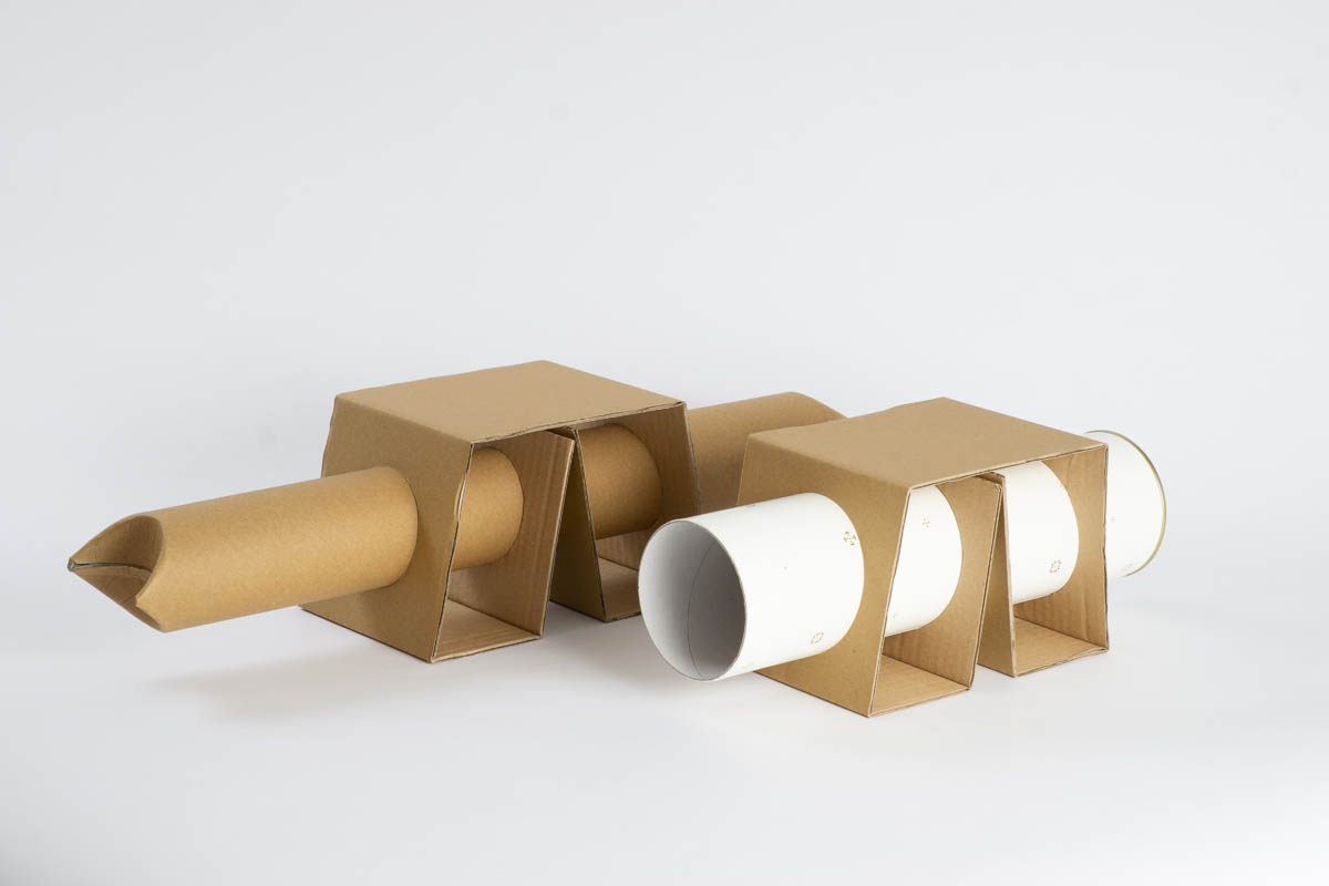 "Cardboard ""Post-M"" shipping tube"