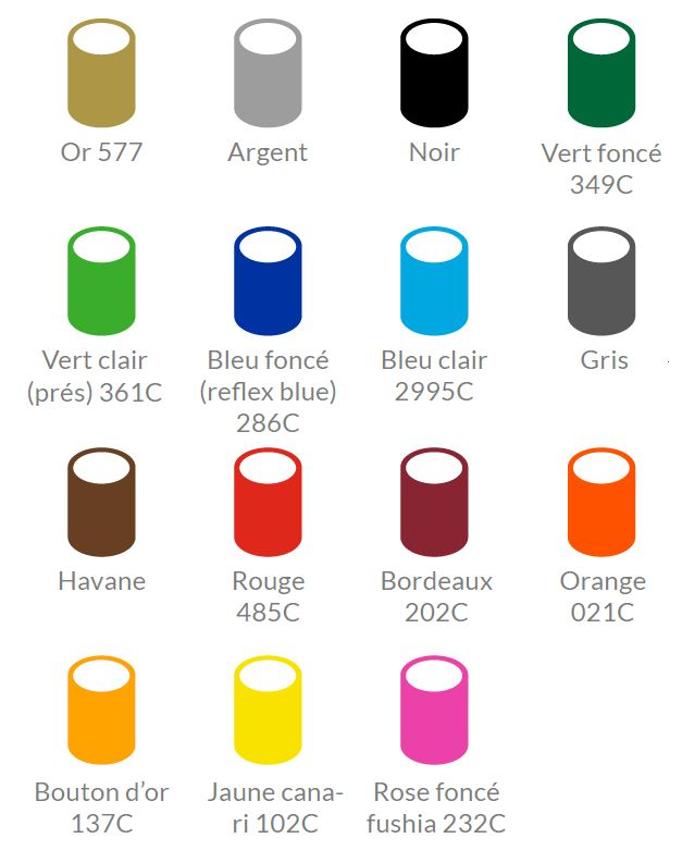 POS pole color chart